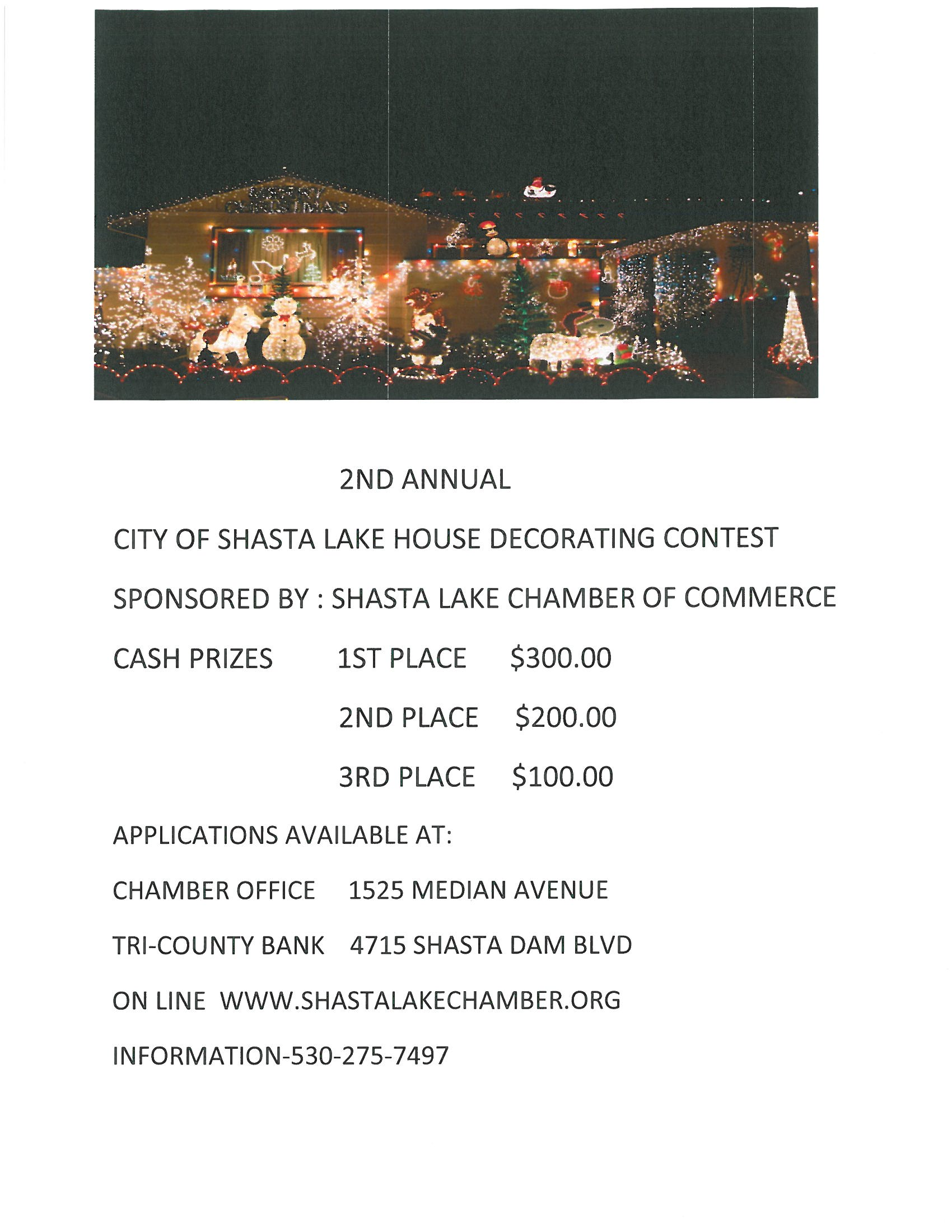 Chamber House Christsmas lights Decorating contest 2020